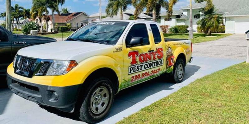 Tony's Pest Control Truck