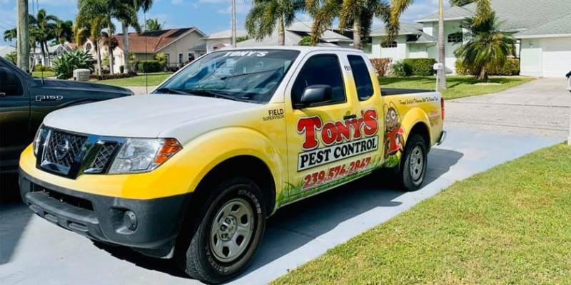 Tonys Pest Control Truck